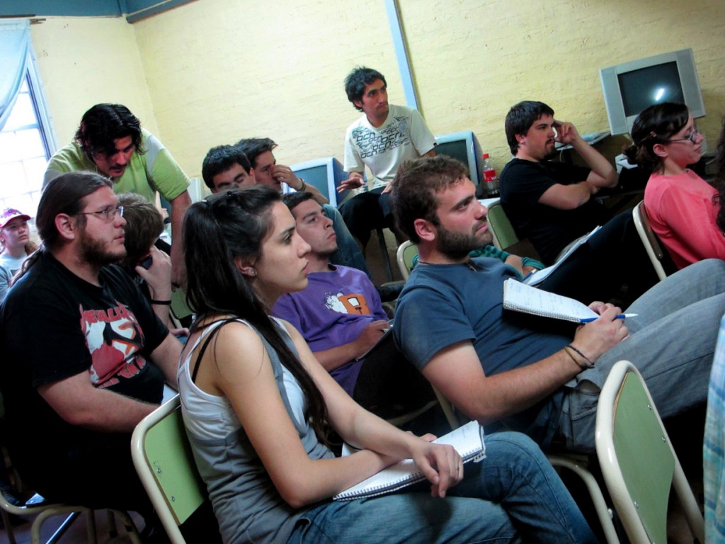 estudiantes de Audiovisuales