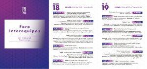 flyer con cronograma de charlas del foro