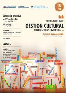 seminario de Gestión Cultural en Italia Unida, con Juan Aranovich
