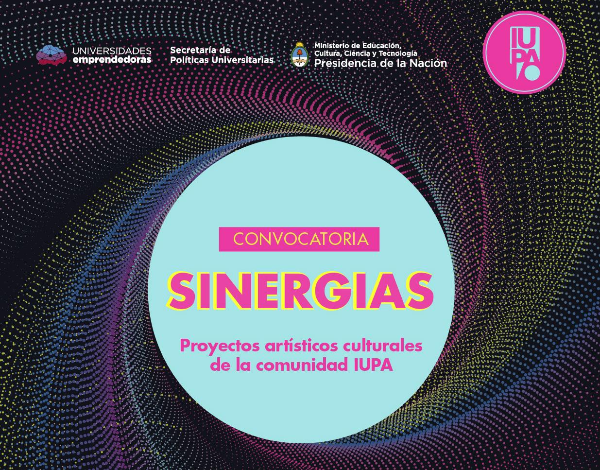 flyer convocatoria Sinergias para proyectos artísticos
