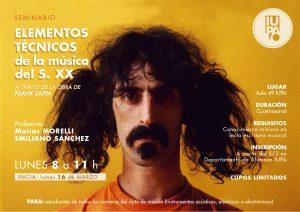 flyer seminario Zappa