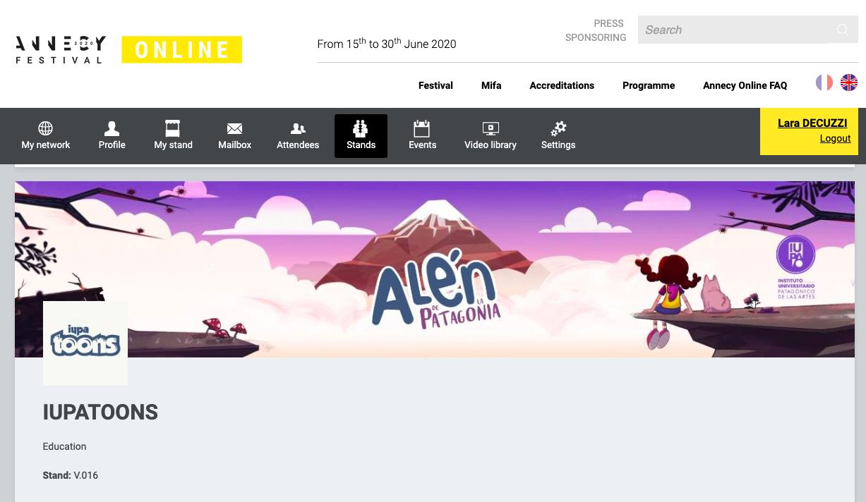stand en línea de Alen