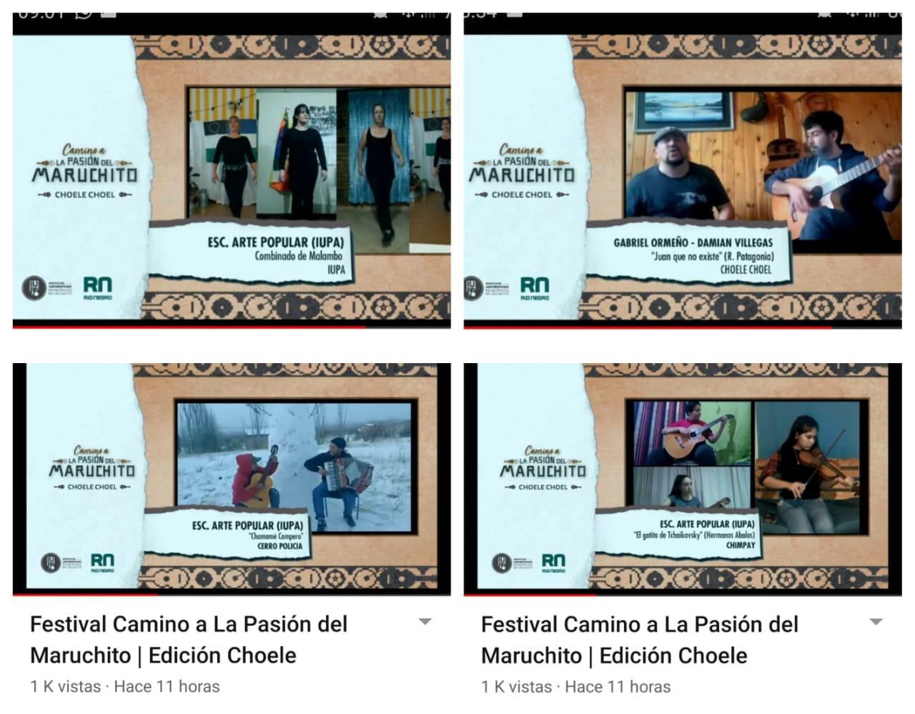 captura de pantalla festival en Choele Maruchito