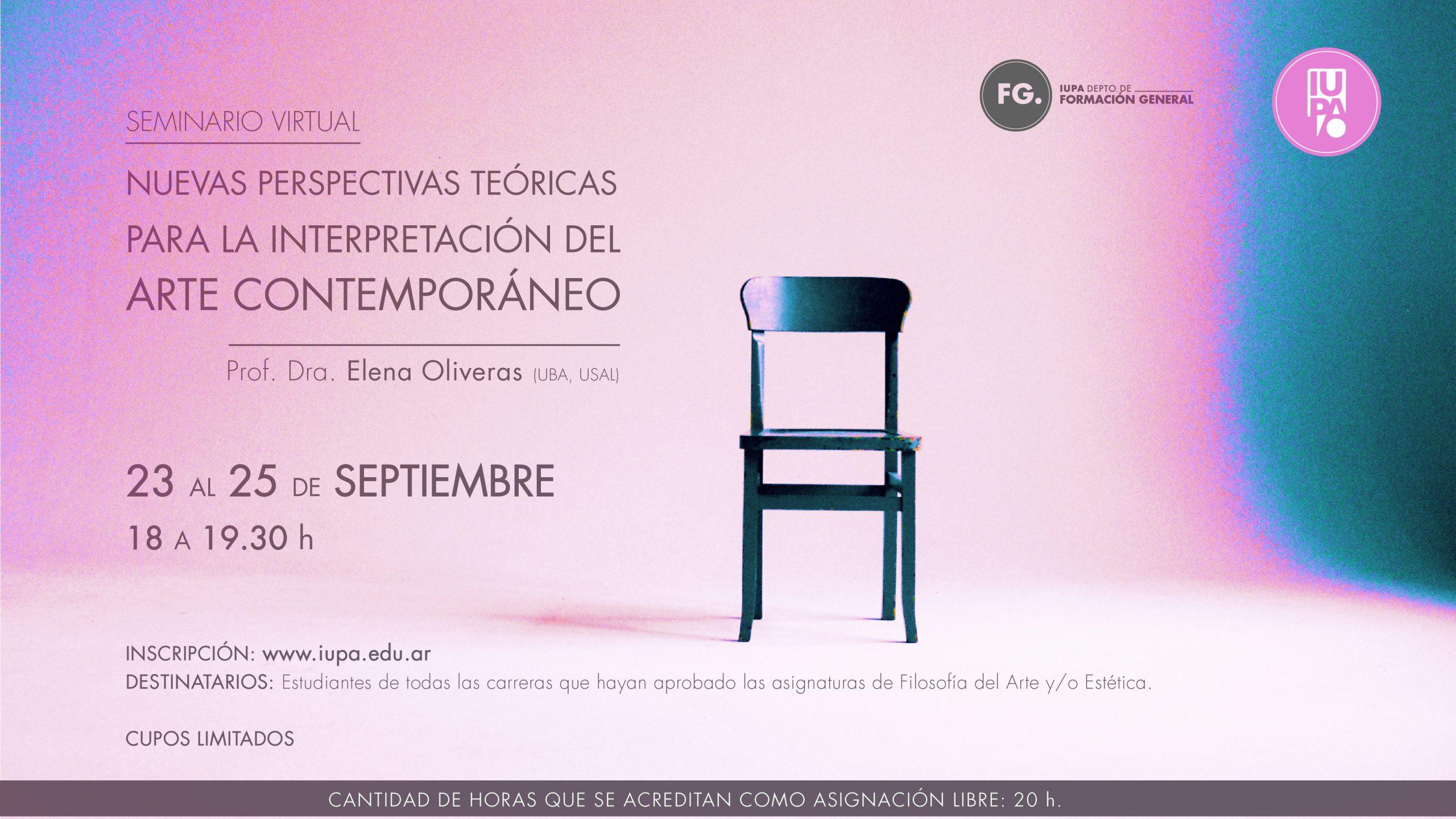 flyer seminario Elena Oliveras