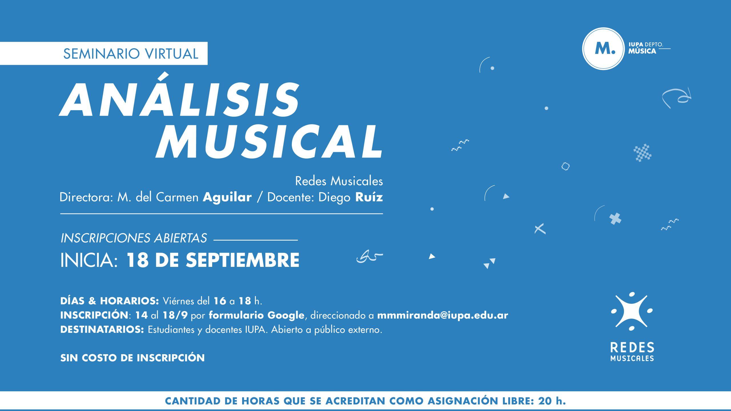 flyer seminario análisis musical