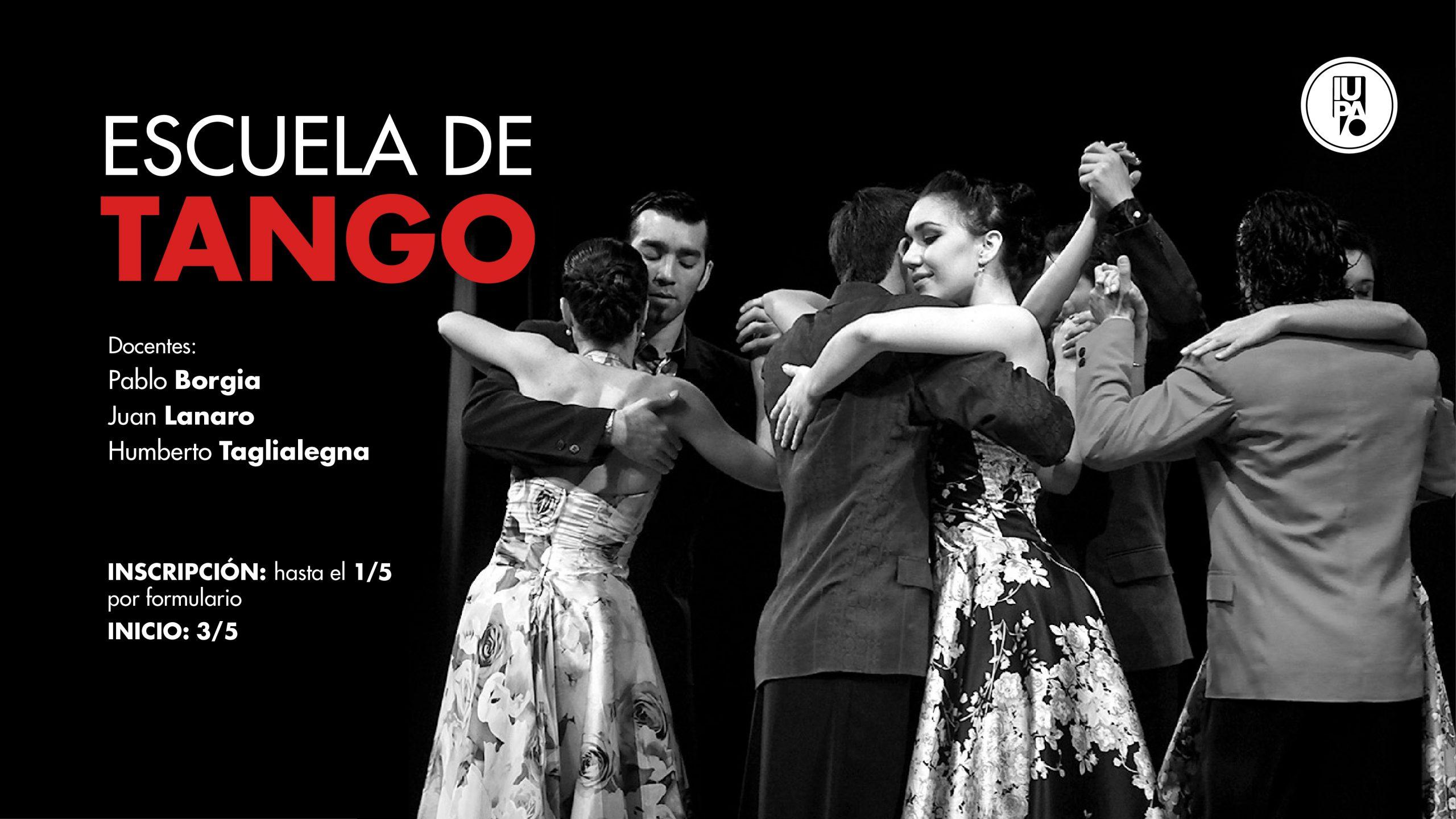 flyer escuela de tango