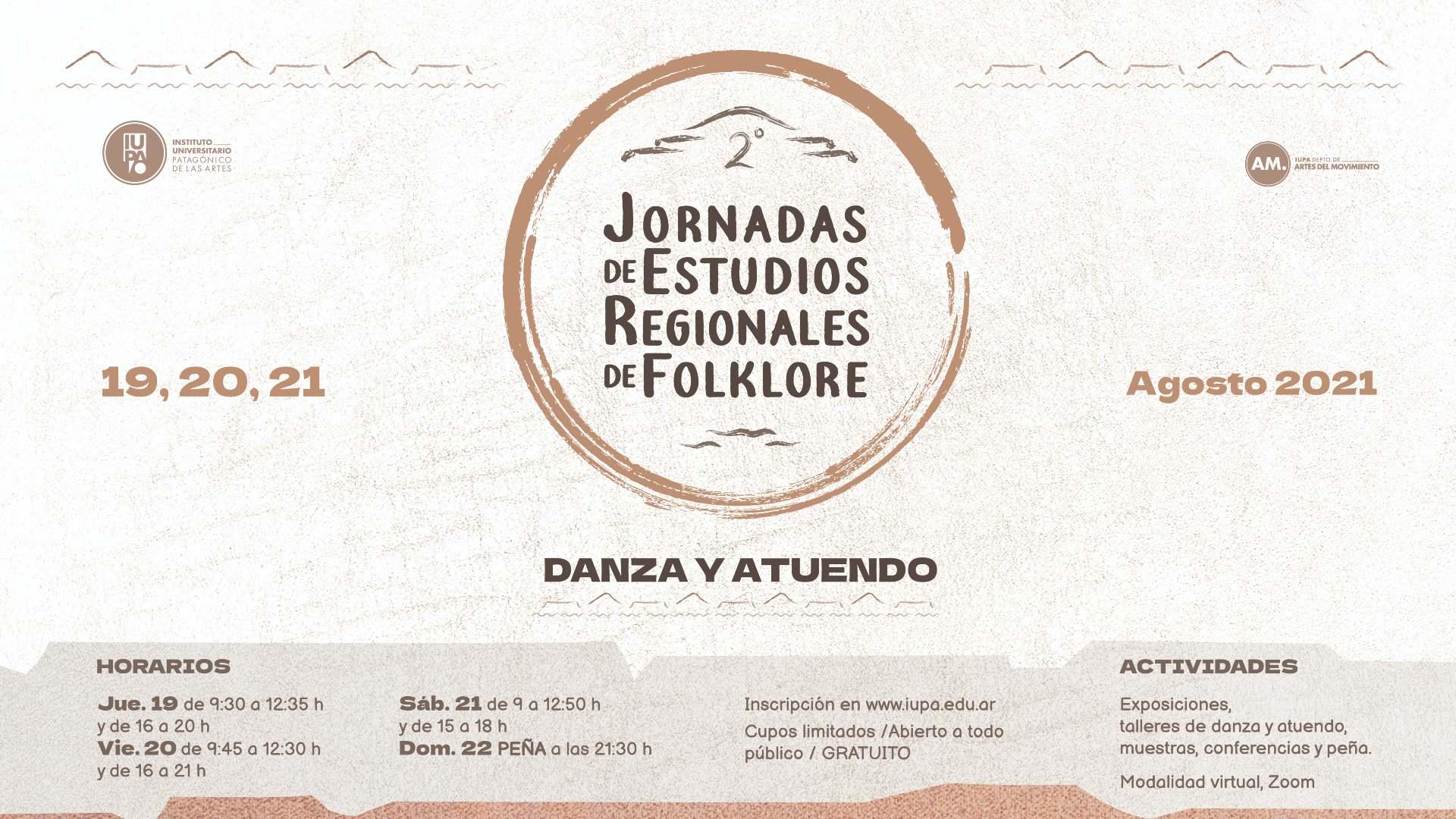 flyer gral Jornadas Folklore