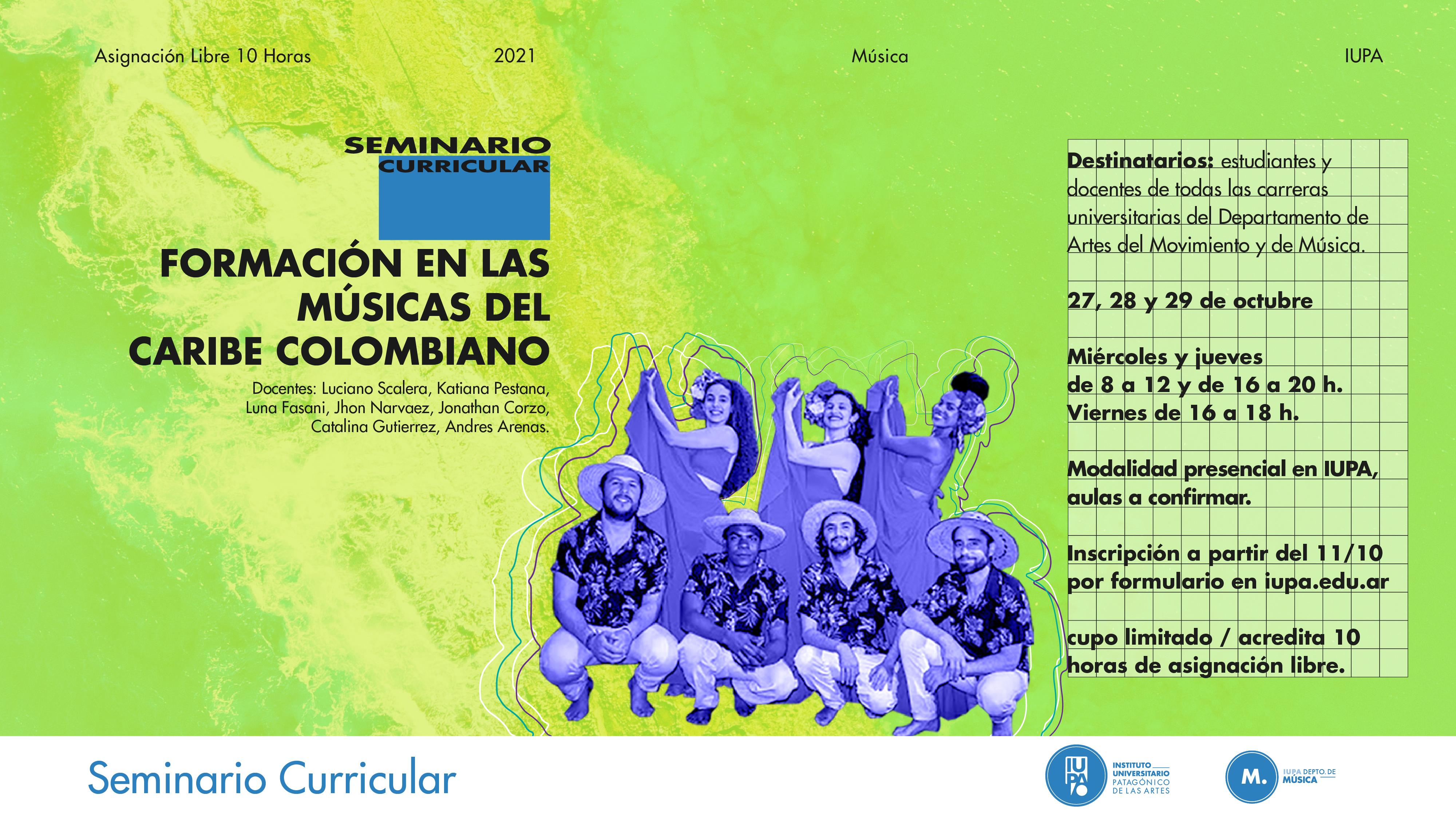 flyer seminario Caribe colombiano